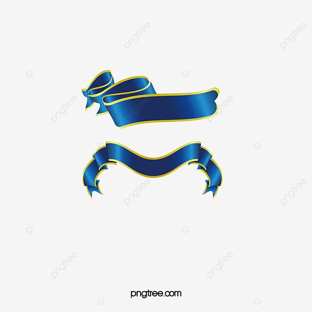 Blue Ribbon Azul Ribbon Cinta De Color PNG Y Vector Para
