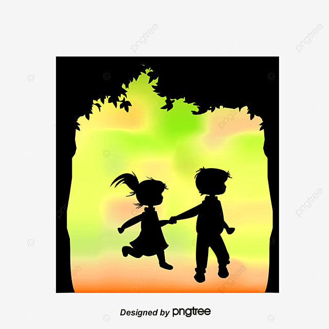 silhouette figures light spot couple holding hands husband and wife free png and vector