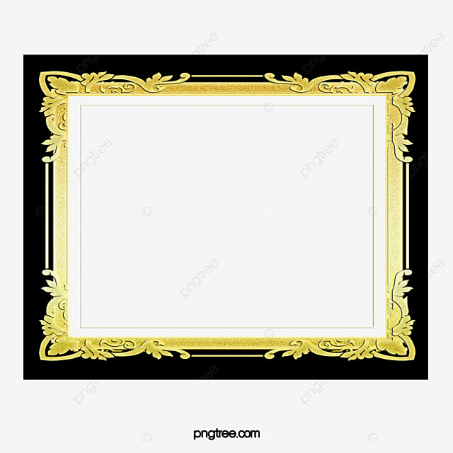 black and gold frame png