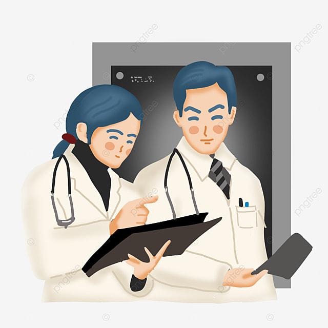 Médicos Y Enfermeras Cartoon Vector Personajes De Dibujos Animados Hospital Medical