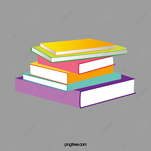 color cartoon books stacked together cartoon books stack together rh pngtree com Stack of Books Tattoo how to draw cartoon stack of books