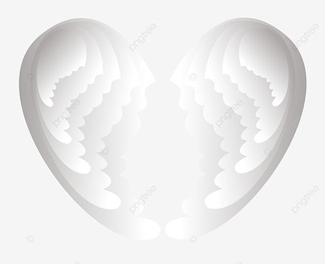 Coração Vermelho Coração Com ASAS EM Forma De