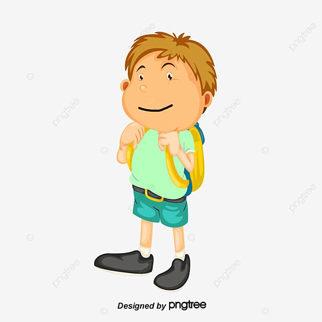 Estudiantes de diseño de dibujos animados de regreso a la escuela de ...