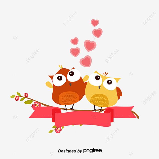 Owl cute cartoon owl tree branch intimate two owls png and owl cute cartoon owl tree branch intimate two owls png and vector voltagebd Images