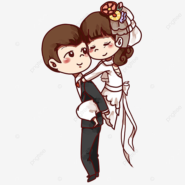 les images de dessin anim u00e9 mariage romantique les mari u00e9s