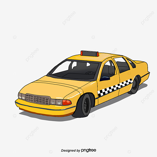 Taxi Top View Plan View Overlook Png Image And Clipart