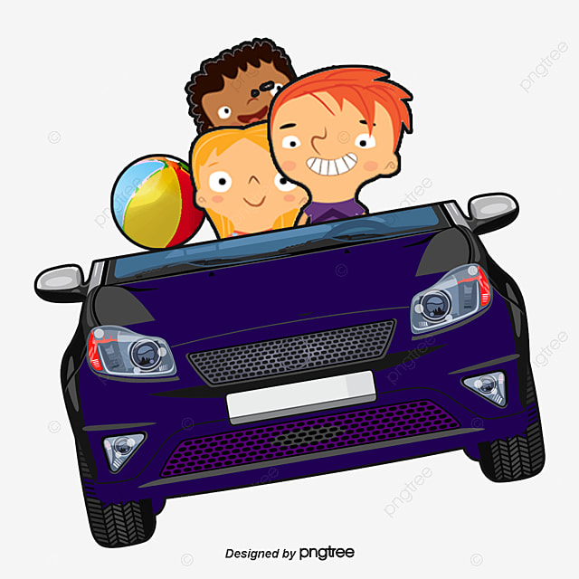 Children Car Cartoon Child Car Png And Vector For Free Download