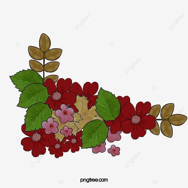 Corner Flowers Clipart Vintage PNG Image And