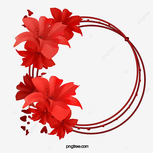 anel de flor vermelha  as flores vermelhas  anel de flor clip art birthday images free clip art birthday images with rabbits