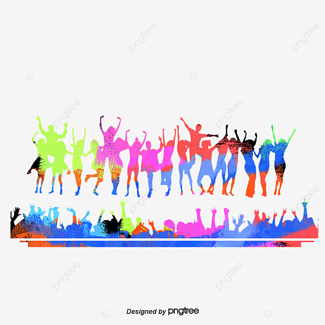 color dancing silhouette figures  color silhouette figures people dancing clip art images Eating Clip Art