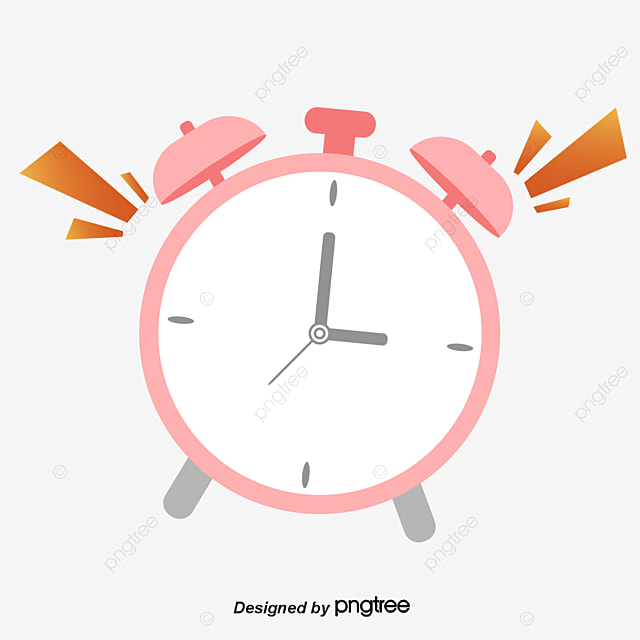 Cartoon Alarm Clock, Cartoon Clipart, Clock Clipart PNG