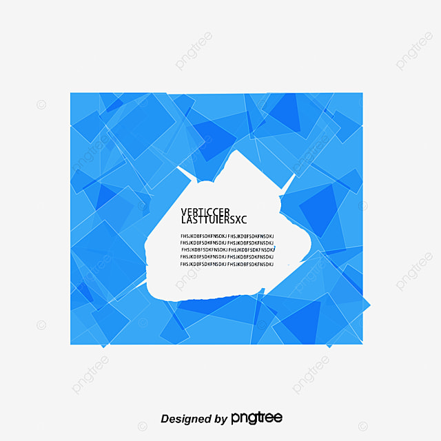 blue square abstract background vector material geometric