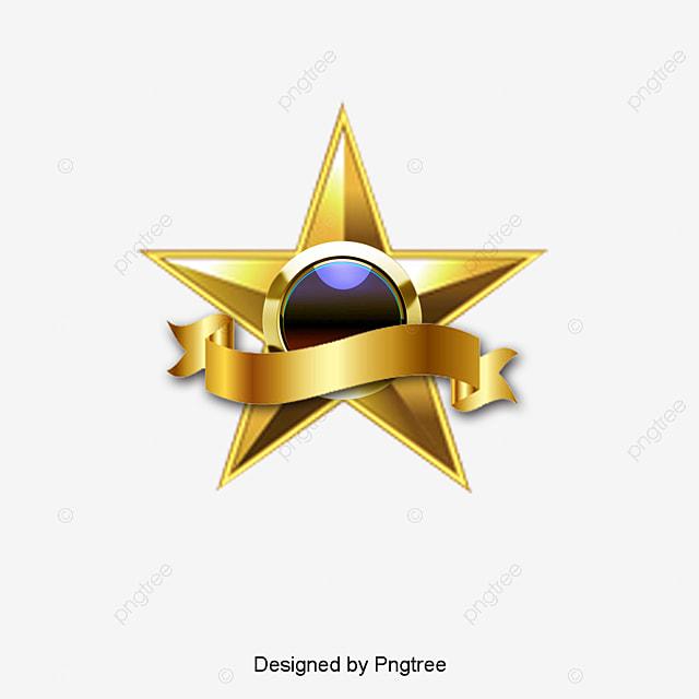 golden star golden 5 estrelas ribbon png e vetor para