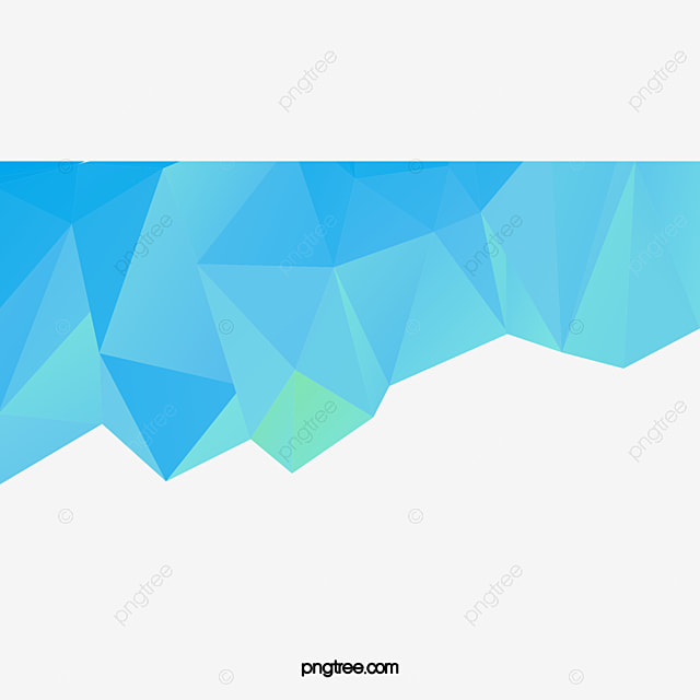 Blue White Origami Background Polygons Polygon PNG And Vector