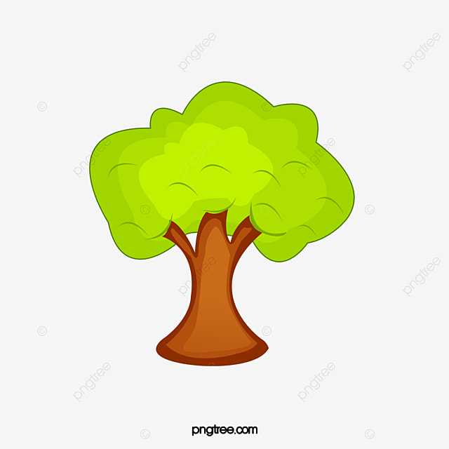 Cartoon Tree Clipart PNG Image And