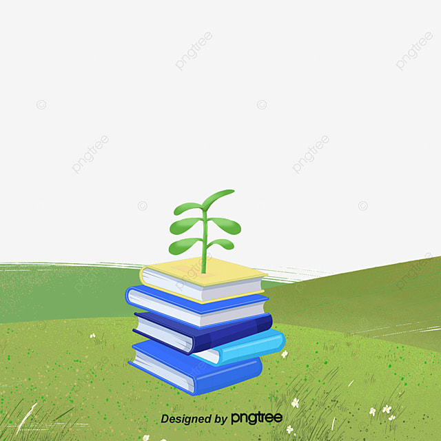 Ppt Template Book On The Grass Meadow Book Trees Png Image And