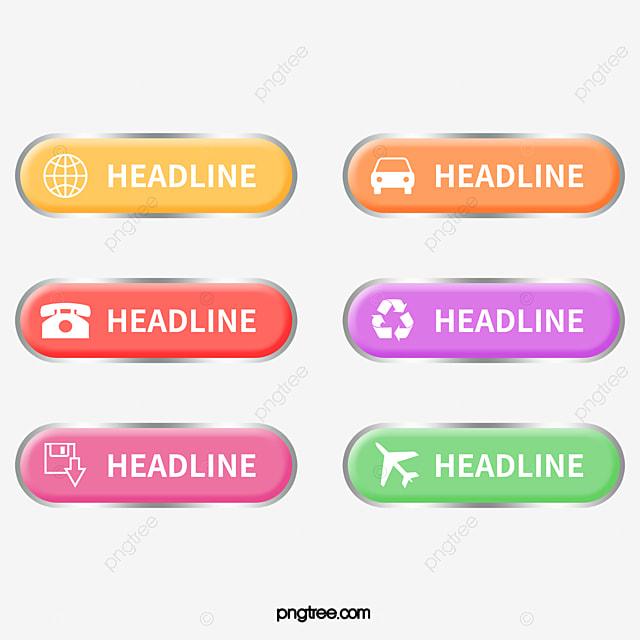 276307c7ef444 Vector Botones Web Botones Web Material Para La Web Icono PNG y ...