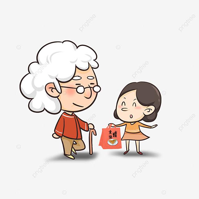 Grandma And Granddaughter, People Illustration, Character ...