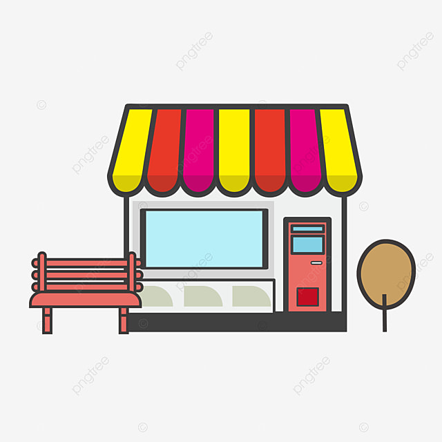 Vector Store, Cartoon Store, House, House PNG and Vector