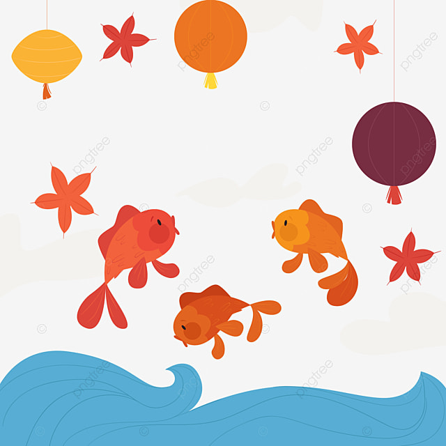 Goldfish Jump Out Of The Tank Aquarium Goldfish Water Png Image