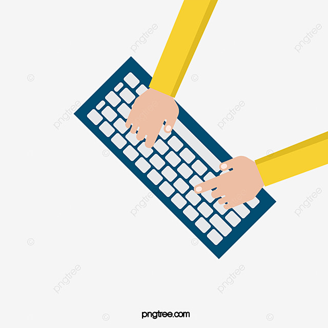 This is an image of an unknown figure typing, in order to represent the typing in this course.