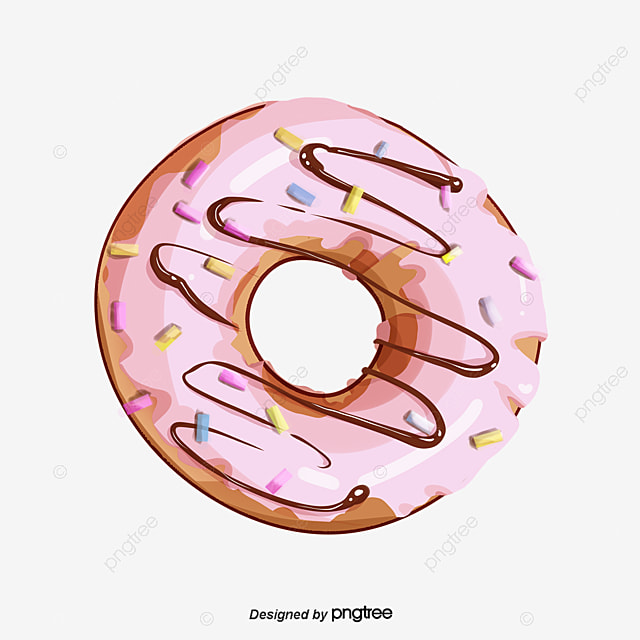 A Pink Donut, Donut Clipart, Donuts, Dessert PNG Image and ...