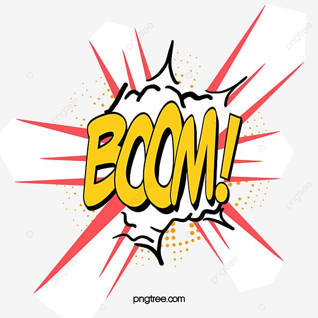 BOOM Comic Explosion Vector Cloud, Vector, Cartoon, Cloud ...