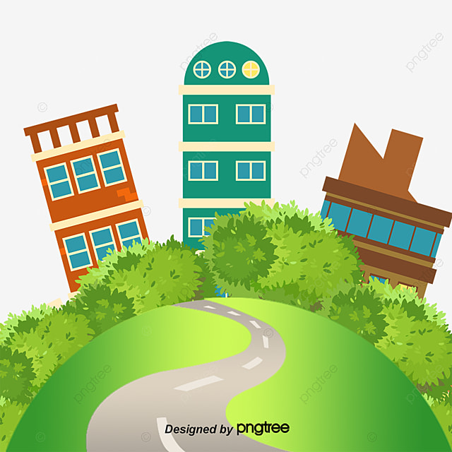 Greenpeace Painted Homes Vector Construction Green Living Cartoons Png And