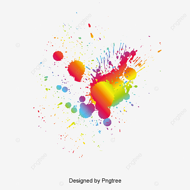 Color Splash Fashion Vector Free PNG And
