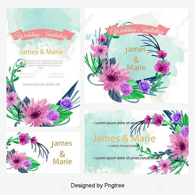 Vector Flores Convites Convites Casamento Casamento Png E: Convite De Casamento Flores Cartão Casamento Arquivo PNG E