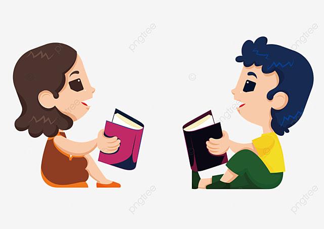 desenhos de crianças lendo o livro livro ensino aprendizagem png