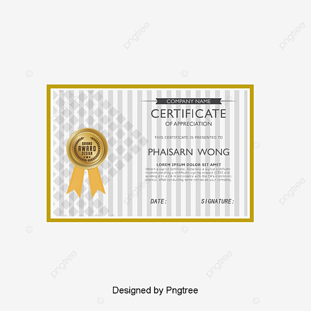 Certificate Design Medals Certificate Templates Png And Vector For
