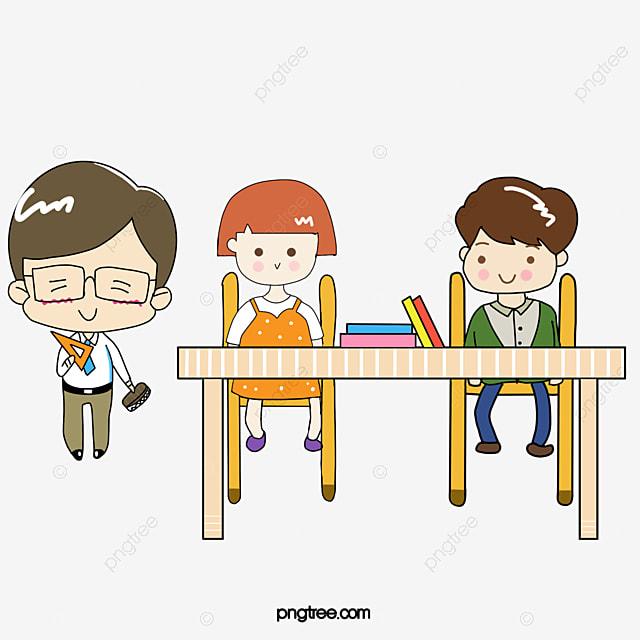 Estudiante Pintado A Mano De Estudiante Dibujos De Chicos Y Chicas ... 2240b89a4ec