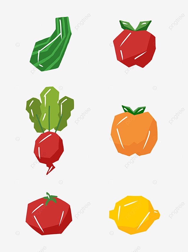 Imagen de dibujos animados de frutas y verduras Verduras Frutas