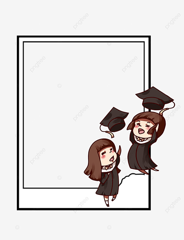 bachelor of cap border  cartoon  graduation season element  bachelor png image and clipart for preschool graduation clipart black and white preschool graduation clip art borders