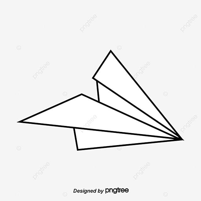 Vector dibujado a mano linea aviones avi n de papel for Papel pintado blanco y negro