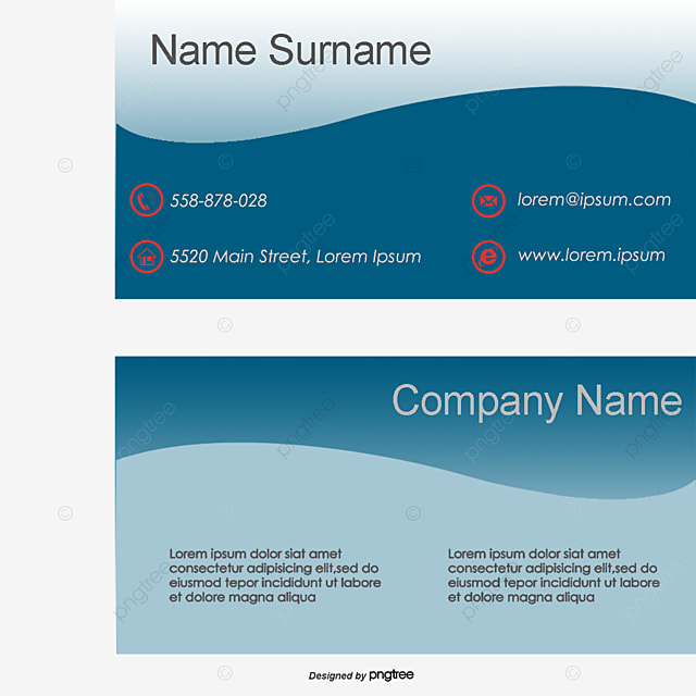 Business Card Cards Template Simple PNG And Vector