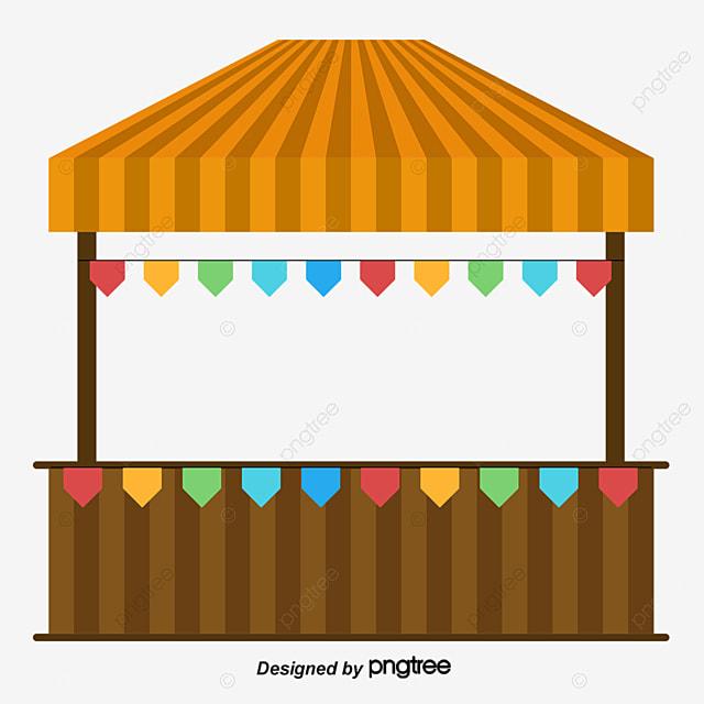 Vector Cartoon Stalls, Vector, Cartoon, Stall PNG and ...
