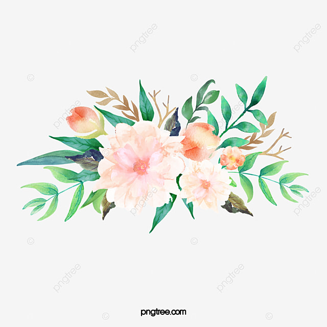 Colored Watercolor Flowers Watercolor Clipart Watercolor