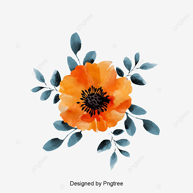 Watercolor Flowers Png Vector Psd And Clipart With: Yellow Flowers, Yellow, Watercolor, Flowers PNG And PSD