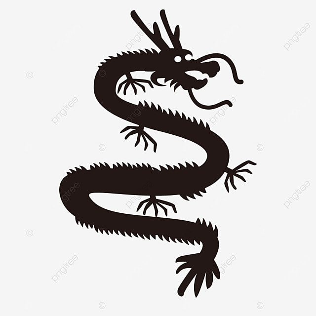 Chinese Style Dragon Vector Black Dragon Chinese Symbol Png And