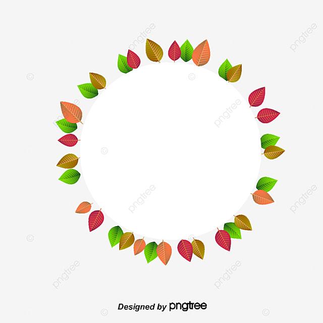 cercle de d u00e9coration de feuilles vertes les feuilles de