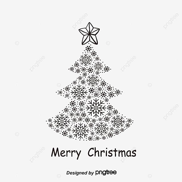 Weihnachtsbaum Schwarz.Schwarze Linien Weihnachtsbaum Der Weihnachtsbaum Schwarz