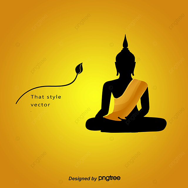 silhouette of buddha buddha buddhism golden buddha png and vector rh pngtree com buddha vector art buddha vector art free