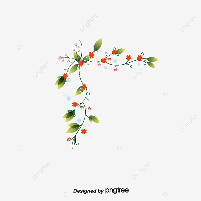 Simple flowers border, Flowers Border, Simple Border, Hand ...