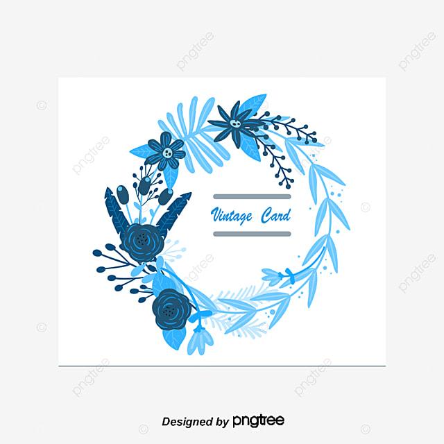 blue floral vector border blue vector border flower