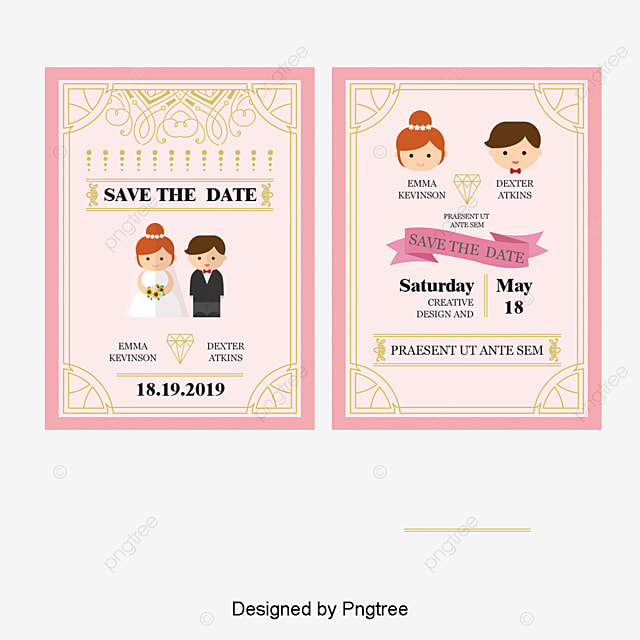 Vector wedding invitations cartoon wedding invitations beautiful vector wedding invitations cartoon wedding invitations beautiful new invitations wedding invitations png and stopboris Gallery