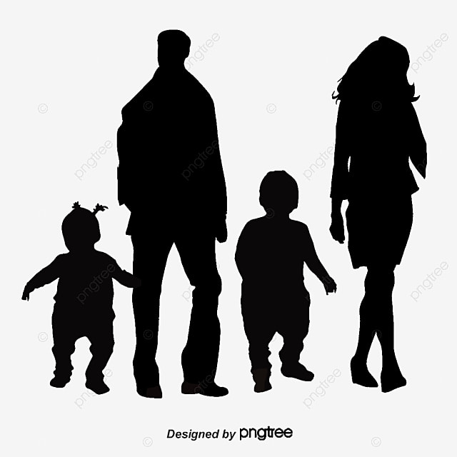 vector family silhouette father mother mom free png and vector