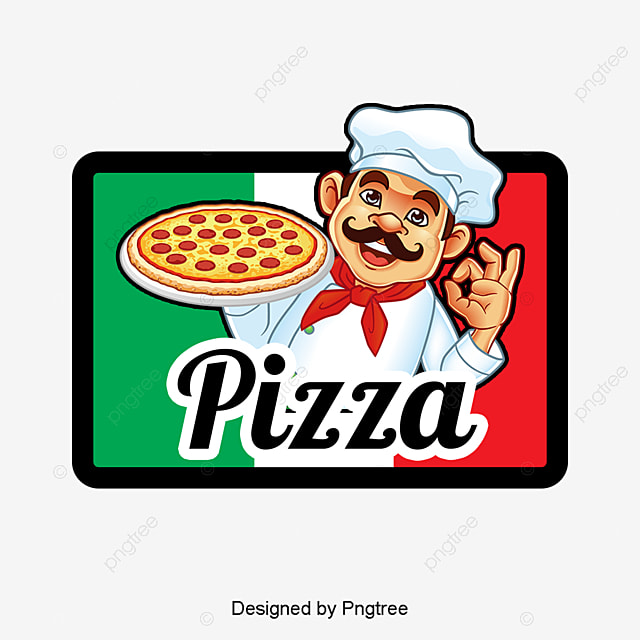 pizza icon logo design chef cartoon characters icon png and psd rh pngtree com cartoon pizza logopedia cartoon pizza logo youtube