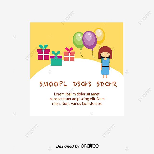 Vector Child Birthday Card Birthday Vector Card Vector Birthday
